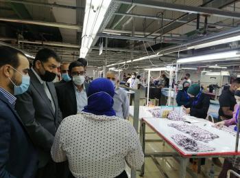 استيتية في الشونة الجنوبية لزيارة فرع إنتاجي يُشغل 480 أردني وأردنية