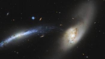 هابل يكتشف شدا وجذبا بين مجرتين في أعماق الكون