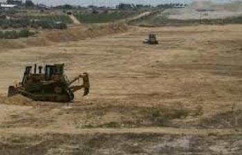 البدء بإنشاء منطقة عازلة داخل الحدود الفلسطينية مع مصر