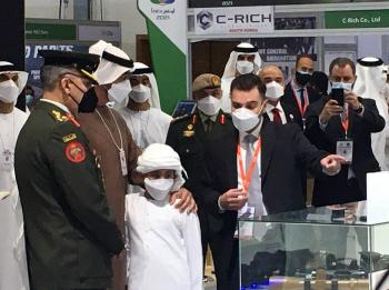 ولي عهد أبو ظبي يزور جناح المركز الأردني للتصميم في ايدكس 2021