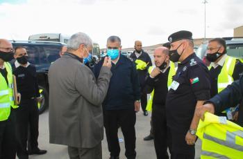 الرحامنة يطلع على مراحل انشاء جمرك عمان
