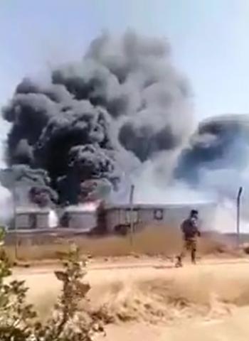 حريق في جامعة العلوم والتكنولوجيا (فيديو)