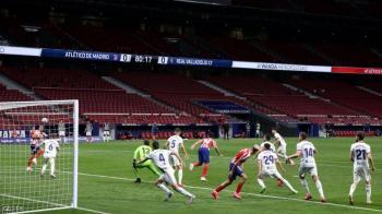 أتليتيكو مدريد يفوز ..  ويتقدم للمركز الثالث بالليغا