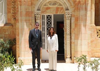 الأميرة دانا فراس تلتقي السفير الألماني لدى الأردن