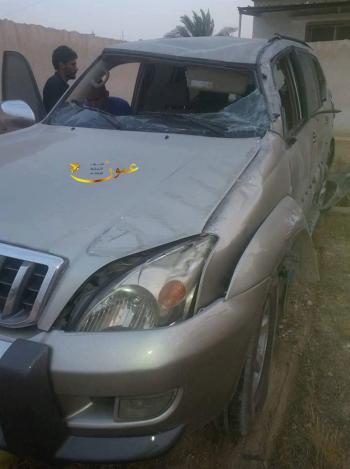 تدهور سيارة النائب السابق العوضات