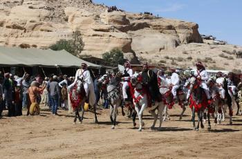 اختتام فعاليات مهرجان البترا الثاني للخيول (صور)