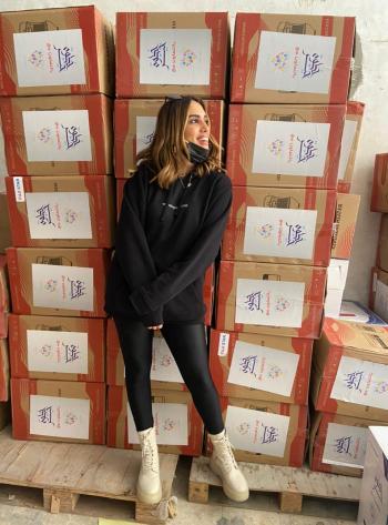الناشطة مطالقة تطلق مبادرة الف عيلة بليلة الخيرية (صور)