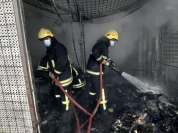 الدفاع المدني تتعامل مع 209 حرائق الثلاثاء