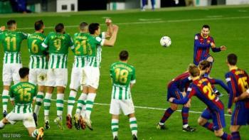 ميسي دخل بديلا ..  وأنقذ برشلونة من الهزيمة