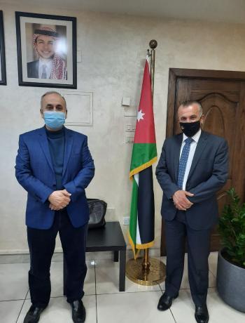 ابو علي يستقبل مدير المرصد الاعلامي لازمة كورونا