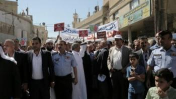 مسيرة في حي الطفايلة ضد اطلاق النار بالمناسبات