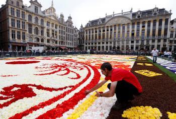 بالصور ..  أكبر سجادة من الزهور في العالم!