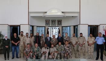 زيارة الضباط المشاركين في دورة الإعلام المتقدمة لجامعة الشرق الأوسط