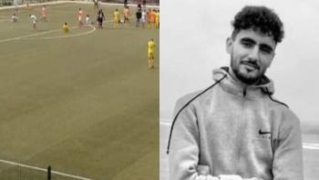 لحظة سقوط اللاعب المغربي الساقي داخل الملعب قبل وفاته (فيديو)
