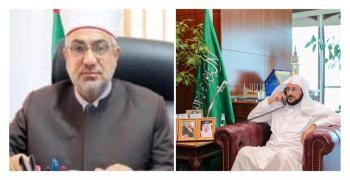 وزير الشؤون الإسلامية السعودي يطمئن على صحة الوزير الخلايلة