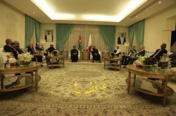 السفير القطري يستقبل سفراء الامارات والكويت ودول خليجية وعربية