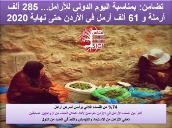 تضامن: 285 ألف أرملة و61 ألف أرمل في الأردن