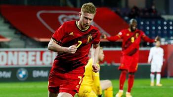 دي بروين جاهز لمواجهة الدنمارك بعد شفائه من الاصابة
