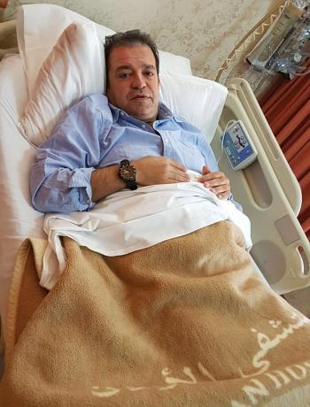 الدكتور الاعلامي البدري على سرير الشفاء