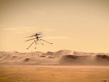 أول مروحية تطير في سماء المريخ