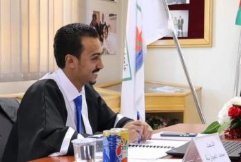 محمد امين العقيل العجارمة  .. مبارك الماجستير