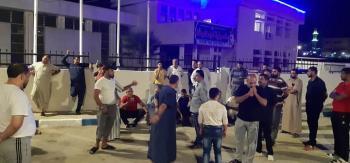 سائقون في الرمثا يحتجون على حجر العمري بعد وفاة زميلهم دهسا