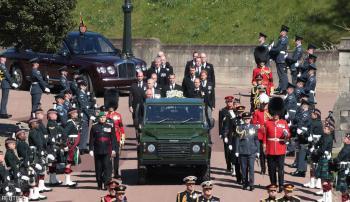 تشييع جثمان الأمير فيليب بحضور الملكة اليزابيث الثانية (صور)