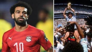 محمد صلاح ينعى الأسطورة مارادونا