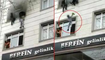 تركيا ..  أم تلقي بأطفالها الأربعة من الطابق الثالث لإنقاذهم من حريق