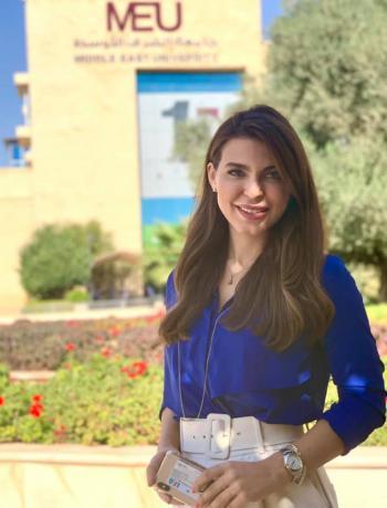 الزميلة راية يعقوب الى جامعة الشرق الأوسط