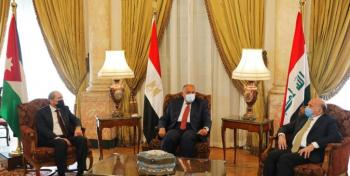 جلسة مباحثات أردنية مصرية عراقية في القاهرة