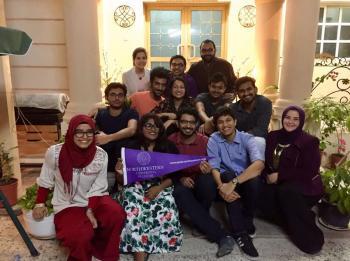طلاب وخريجو نورثويسترن في قطر وامريكا على مائدة واحدة
