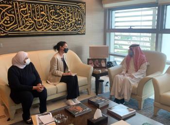 السفير السعودي يلتقي مديرة الصندوق الأردني الهاشمي