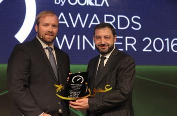 أمنية تتسلّم جائزة الشبكة الأسرع في الأردن