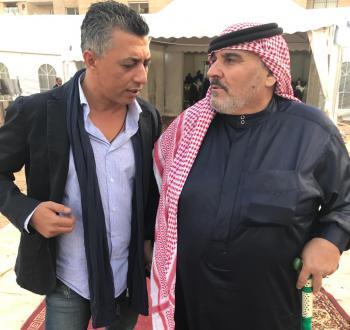 عمر العبداللات ينعى رفيق دربه أبو خالد