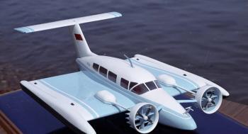 كيف تقلع طائرة مائية من على سطح الأرض ..  فيديو