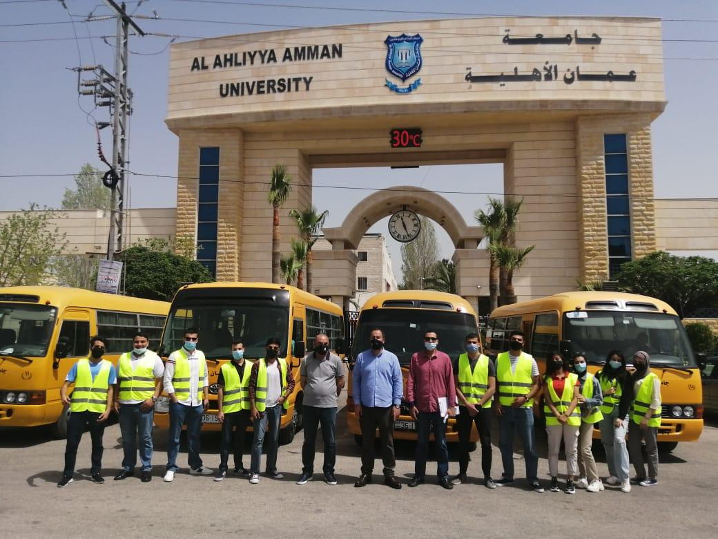 جامعة عمان الأهلية تختتم حملاتها الخيرية في رمضان