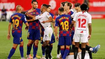 أرقام سلبية تطارد برشلونة بعد مواجهة إشبيلية