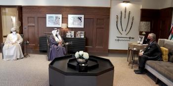 الملك يستقبل أمين عام مجلس التعاون الخليجي