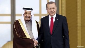 الملك سلمان يتلقى اتصالا من إردوغان