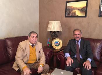 السفير العجلوني يلتقي السفير الأذري