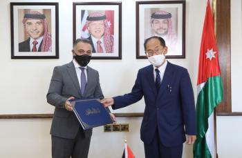 الربضي يلتقي السفير الياباني في عمان