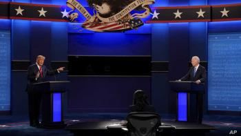 كورونا في مركز المواجهة التلفزيونية الأخيرة بين ترامب وبايدن