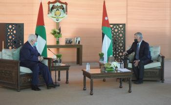 الملك لـ عباس: الأردن يقف بكل طاقاته إلى جانب الفلسطينيين ونرفض الإجراءات الأحادية