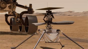 مروحية إنجينيويتي تستعد للتحليق في أجواء المريخ