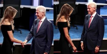 سلام كلينتون على زوجة ترامب