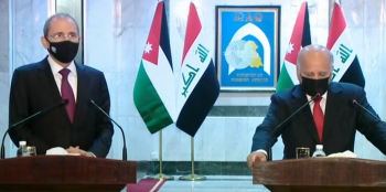الصفدي من العراق: الضم الاسرائيلي خطر غير مسبوق على أمن المنطقة