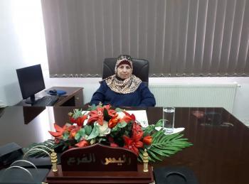 المهندسة الزراعية ايمان زغلوان مديرة لفرع النقابة في إربد احتفالاً بيوم المرأة العالمي