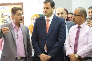 النائب المومني يفتتح معرض الخط العربي عجلون