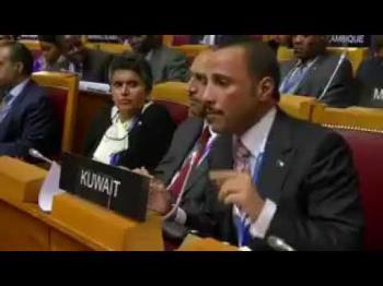 الغانم يطرد البعثة الاسرائيلية من البرلمان الدولي